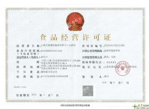 新疆去哪里办食品流通许可证