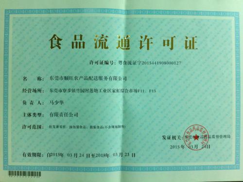 湖南食品流通许可证种类